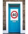 40 jaar stopbord poster A1