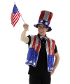 USA verkleed set drie delig