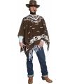 Cowboy poncho voor volwassenen