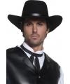 Zwarte heren cowboy hoeden