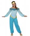 Carnavals outfit lichtblauwe arabische prinses