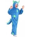Kinder Carnavalskleding blauw monster