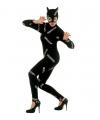Katten kostuum zwart jumpsuit