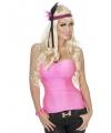Neon rozekleurig dames topje
