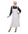 Ouderwets dienstmeisje kostuum met mutsje