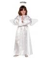 Witte jurk inclusief vleugels en aureool