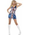 Glinsterend jurkje met Engelse vlag