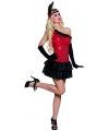 Jaren 20 jurk rood met zwart