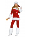 Fluweel kerstvrouw kostuum
