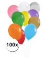 Ballonnen gekleurd 100 stuks
