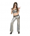Holografische damesbroek zilver