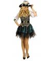 Carnavals musketiers jurk groen
