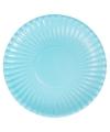 Grote bbq borden lichtblauw 29 cm