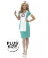 Verpleegster kostuum grote maat met schort