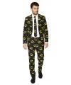 Business suit met Batman print
