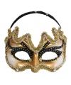 Gouden heren oogmaskers met zwarte rand