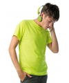 Team t-shirt fel geel voor heren