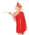 Twenties dames jurkje robijn rood