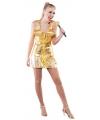 Lady Gaga look-a-like kostuum goud