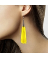 Dames oorbellen neon geel
