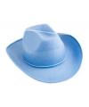 Cowboyhoed lichtblauw vilt