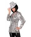 Luxe dames jasje zilver