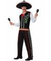 Zwart Mexicaans kostuum voor heren