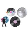 Disco decoratie setje 4 stuks