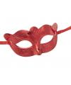 Carnaval oogmasker rood