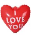 Rode opblaasbare harten 22 cm