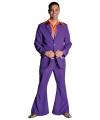 Paarse disco kleding voor heren