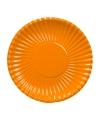 Oranje kartonnen bordjes 23 cm