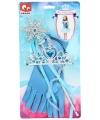 Frozen verkleed accessoires blauw