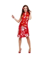 Hawaii verkleed jurkjes in het rood