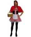 Verkleed kostuum Roodkapje voor dames