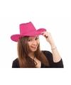 Roze western feesthoeden