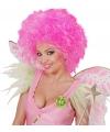 Funky dames pruik neon roze