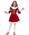Rood kerst jurkje met bontrand