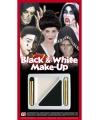 Feestarikelen schmink set zwart wit