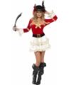 Piraten jurkje voor dames rood