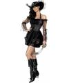 Sexy kostuum piraat zwart en goud