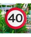 Tuin verkeersbord 40 jaar