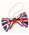 Union Jack pailletten vlinderstrik
