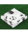 20 servetten met voetbal afdruk