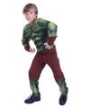 Gespierde groene superheld kids outfit