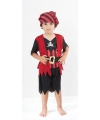 Rood met zwart piraten outfit voor kinderen