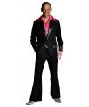 Zwarte disco kleding voor heren