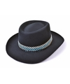 Vilten zwarte cowboy hoeden